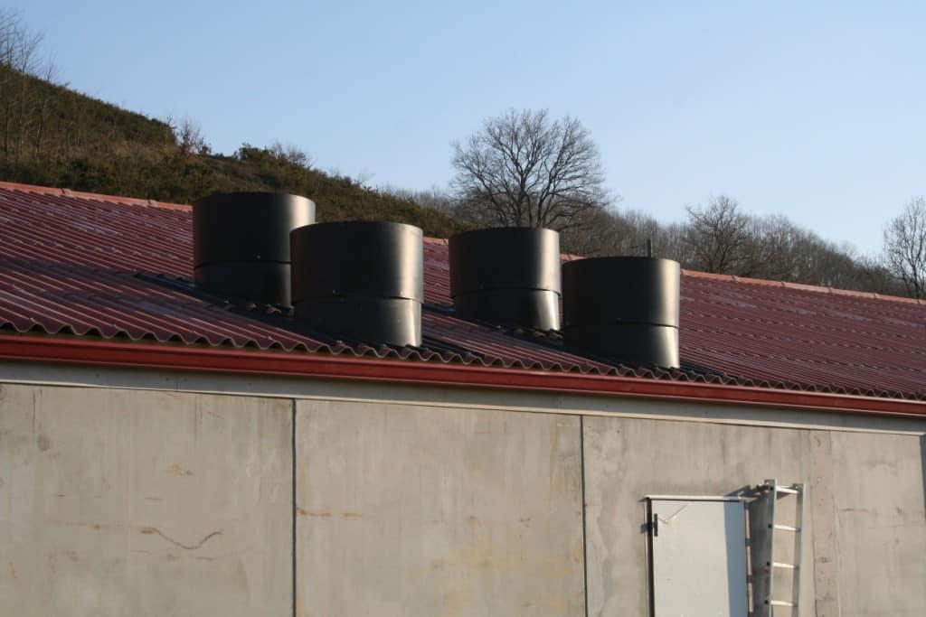 Sortie d'air bâtiment - élevage